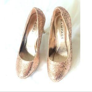 Rampage glitter sparkle heels